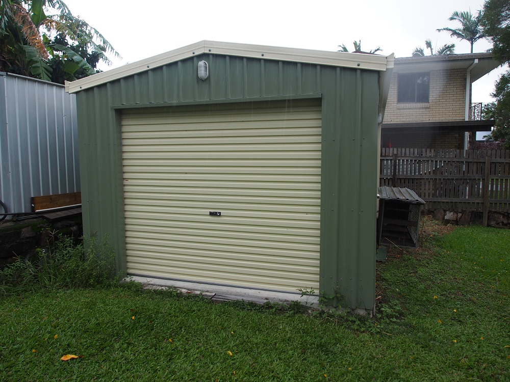 backyard shed roller door