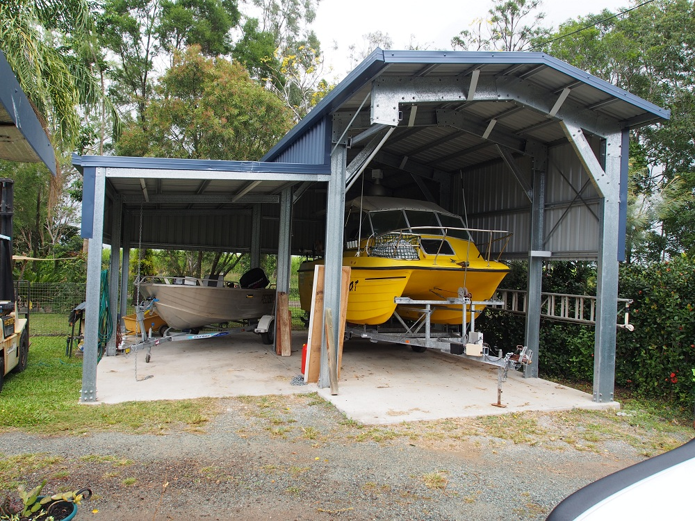 how to build a boat storage shed