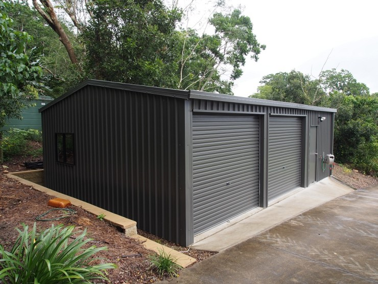 Double Garage With Workshop Trusty Sheds