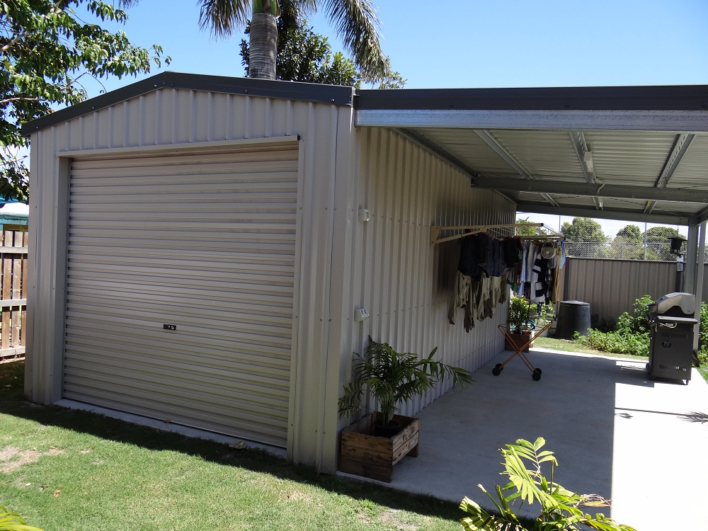 Visit our sheds garages gallery for Single garage with carport